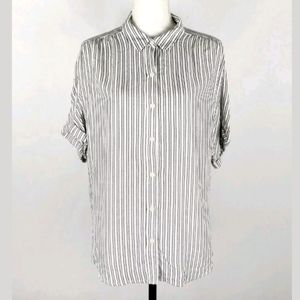 NWT Universal Thread striped button up top